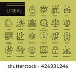 line vector icons in a modern... | Shutterstock .eps vector #426331246