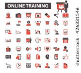 online training icons  | Shutterstock .eps vector #426331546