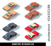 isometric 3d sedan car  city... | Shutterstock .eps vector #426332188