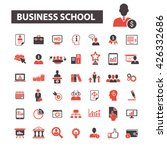 business school icons  | Shutterstock .eps vector #426332686