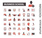 business school icons  | Shutterstock .eps vector #426332686