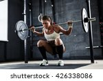 lifting weight in gym | Shutterstock . vector #426338086