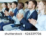 applauding after lecture | Shutterstock . vector #426339706