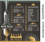 wine and food menu design... | Shutterstock .eps vector #426340966