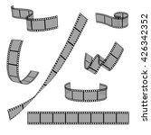 cinema film strip roll 35mm... | Shutterstock .eps vector #426342352