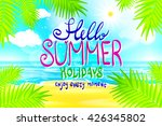 hello summer. poster on... | Shutterstock . vector #426345802