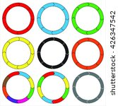 circle  ring. set of 9 colorful ... | Shutterstock .eps vector #426347542