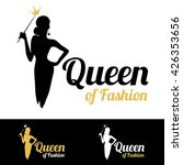 queen of fashion logo design... | Shutterstock .eps vector #426353656