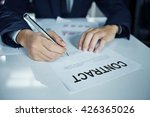 business is signing a contract | Shutterstock . vector #426365026