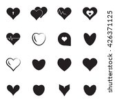 vector black hearts icons or... | Shutterstock .eps vector #426371125