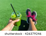 green smoothie woman drinking... | Shutterstock . vector #426379246