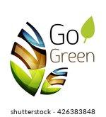 go green. leaf nature concept.... | Shutterstock .eps vector #426383848