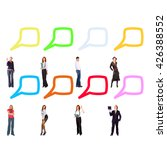 conversations in a company... | Shutterstock . vector #426388552