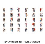 corporate teamwork business... | Shutterstock . vector #426390505