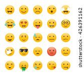 set of emoticons. emoji flat...