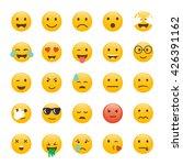 set of emoticons. emoji flat...