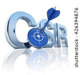 3d rendering of a csr icon | Shutterstock . vector #426394876
