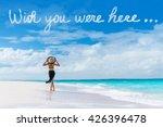 wish you were here cloud... | Shutterstock . vector #426396478