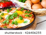 Fried Eggs In Tomato Sauce ...