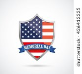 us flag protection shield for... | Shutterstock .eps vector #426412225