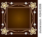 vintage gold jewelry background.... | Shutterstock . vector #426413008