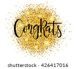 hand sketched congrats text as... | Shutterstock .eps vector #426417016