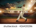 baseball players in action on... | Shutterstock . vector #426420286