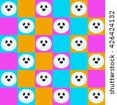 seamless pattern cartoon seal... | Shutterstock .eps vector #426424132