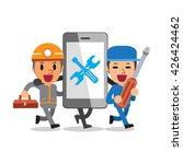 cartoon smartphone with... | Shutterstock .eps vector #426424462