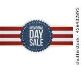 memorial day sale greeting... | Shutterstock .eps vector #426432892