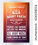 summer beach party flyer or... | Shutterstock .eps vector #426438016