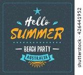vintage hipster summer holidays ... | Shutterstock .eps vector #426441952