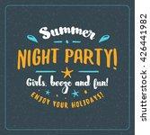 vintage hipster summer holidays ... | Shutterstock .eps vector #426441982