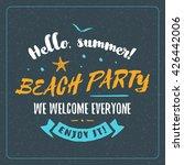 vintage hipster summer holidays ... | Shutterstock .eps vector #426442006