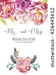 watercolor wedding invitation... | Shutterstock . vector #426445612