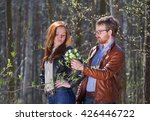 young lovely couple with... | Shutterstock . vector #426446722