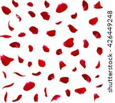 Stock photo seamless texture of dark red rose petals isolated background 426449248