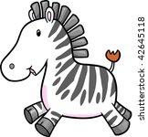 zebra vector illustration | Shutterstock .eps vector #42645118