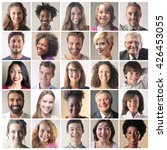 smiling faces | Shutterstock . vector #426453055