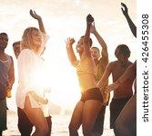 celebration beach community... | Shutterstock . vector #426455308