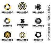 set of logos for the tool ... | Shutterstock .eps vector #426455692