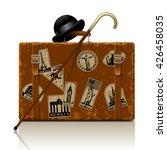 vintage brown threadbare... | Shutterstock .eps vector #426458035