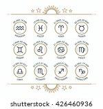 zodiac icon collection. sacred... | Shutterstock .eps vector #426460936