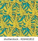 pattern of yellow leaflet on... | Shutterstock .eps vector #426461812