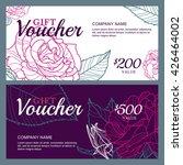 vector gift voucher template... | Shutterstock .eps vector #426464002