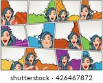 comic book page with retro... | Shutterstock .eps vector #426467872