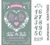 wedding floral invitation cards....   Shutterstock .eps vector #426470602