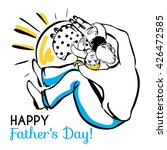 happy father's day  dad  son... | Shutterstock .eps vector #426472585