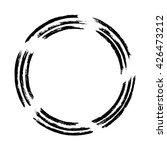 grunge circle frame  vector... | Shutterstock .eps vector #426473212