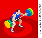 weightlifting athletes 2016... | Shutterstock . vector #426474802